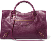 Balenciaga Classic City Textured-leather Tote - Plum
