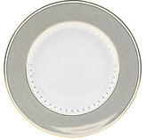 Nikko Lattice Gold Scalloped Bone China Salad Plate