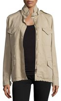 Michael Kors Fur-Lined Safari Jacket, Sand
