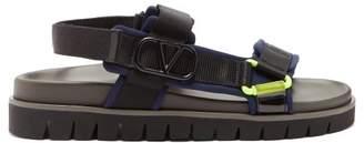 Valentino Go Logo Hiking Sandals - Mens - Black Navy