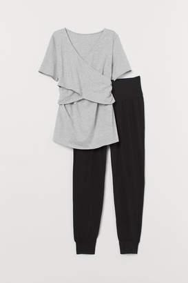 H&M MAMA Maternity/Nursing Pajamas - Gray