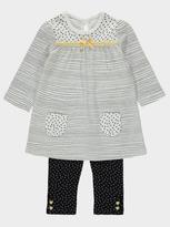 George Printed Dress and Leggings Set