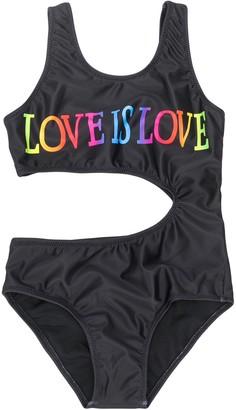 Alberta Ferretti Kids Slogan Swimsuit
