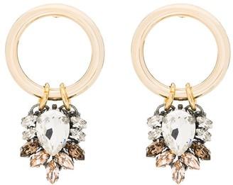 Anton Heunis gold-plated circle Swarovski crystal earrings