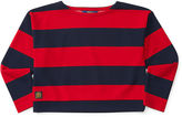 Ralph Lauren Knit Striped Ponte Top