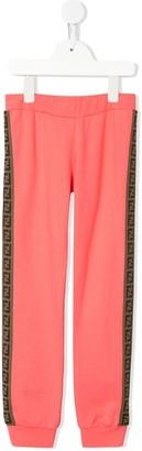 Fendi side panelled FF track pants