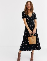 Asos Design DESIGN embroidered midi tea dress