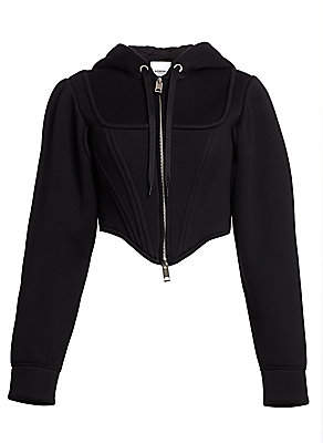 Burberry Women's Grace Hooded Corset Jacket