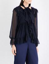 Zimmermann Folly Ruffle silk-blend blouse