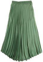 Plissé Georgette Long Skirt
