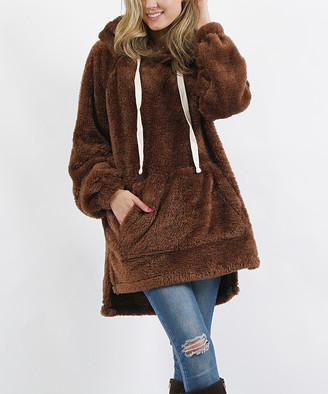 Lydiane Women's Sweatshirts and Hoodies LT - Light Brown Fuzzy Hoodie - Women