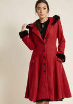 Collectif Winsome Warmth Fit and Flare Coat in M - Fit & Flare Coat by Collectif from ModCloth