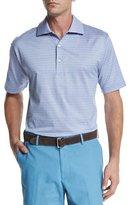 Peter Millar Callicut Striped Short-Sleeve Polo Shirt, Light Purple