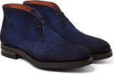 Santoni - Burnished-suede Chukka Boots