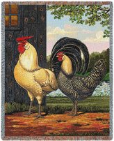Pure Country Chickens Throw - 70 x 54 Blanket/Throw