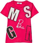 MSGM Fuchsia Logo and Barbie Tee