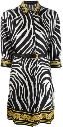 Versace Zebra Print Shirt Dress