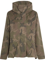Iris and Ink Alex Camouflage-Print Cotton-Blend Hooded Jacket