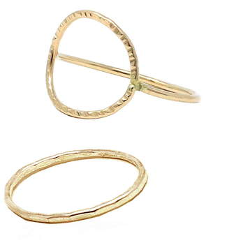 ABLE Set of 2 Hammered Circle Stacking Rings