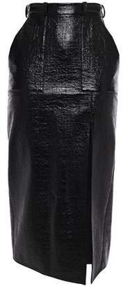 David Koma Coated Textured Cotton-blend Skirt