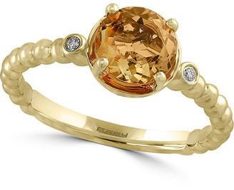 Effy Fine Jewelry 14K Two-Tone Diamond & Citrine Ring
