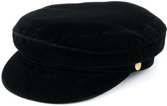 Manokhi Velvet Baker Boy Hat