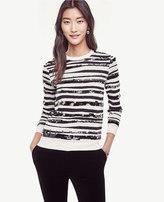 Ann Taylor Sequin Zebra Jacquard Sweater