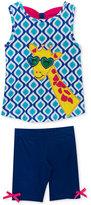 Rare Editions 2-Pc. Cotton Giraffe Top & Shorts Set, Baby Girls (0-24 months)