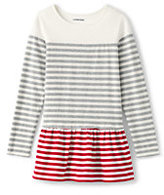 Classic Little Girls Colorblock Skirted Legging Top-Gray Heather Stripe