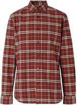 Burberry checkered long-sleeved shirt