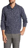 Toscano Mock Neck Cable Knit Sweater