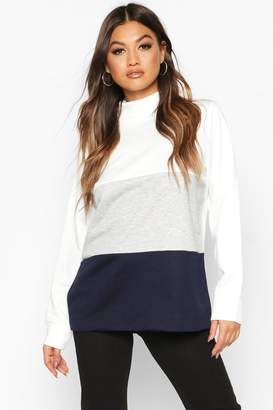 boohoo Colour Block Sweat Top