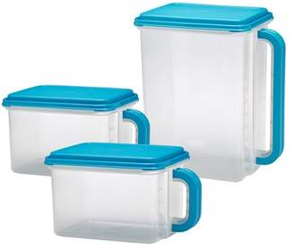 Mainstays Plastic Bulk Food Storage Containers, Set of 3