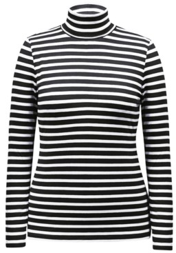 Style&Co. Style & Co Petite Striped Turtleneck Top, Created for Macy's