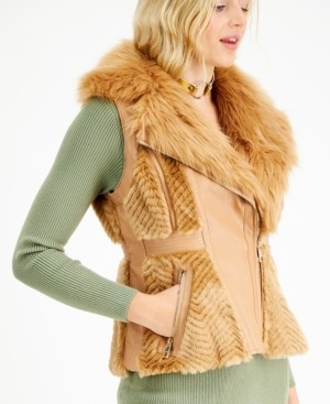 GUESS Faux-Fur Vest
