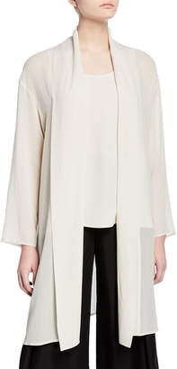 Eileen Fisher Petite Sheer Silk Georgette Kimono Jacket