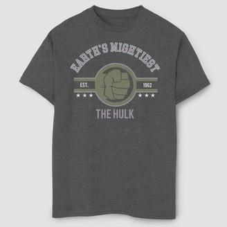 Marvel Boy' Mighty Hulk hort leeve Graphic T-hirt - Charcoal Heather