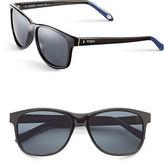 Fossil 56mm Polarized Rectangle Sunglasses