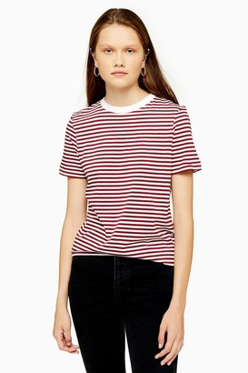 Selected Womens **Red Perfect Stripe T-Shirt By Red