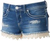 Almost Famous Juniors' Crochet Hem Shortie Shorts