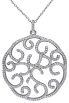 """Allura 3.3 CT. T.W. Cubic Zirconia Prong Set Pendant Necklace in Sterling Silver (17"""")"""