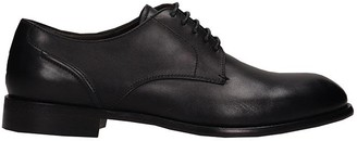 Ermenegildo Zegna Lace Up Shoes In Black Leather