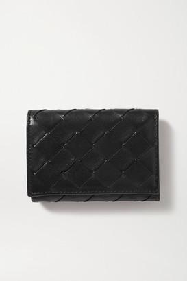 Bottega Veneta Intrecciato Textured-leather Wallet - Black