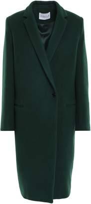 Claudie Pierlot Gold Wool-blend Felt Coat