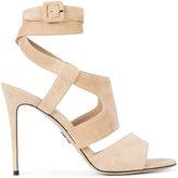 Paul Andrew tie around buckled sandals - women - Leather/Suede - 36.5