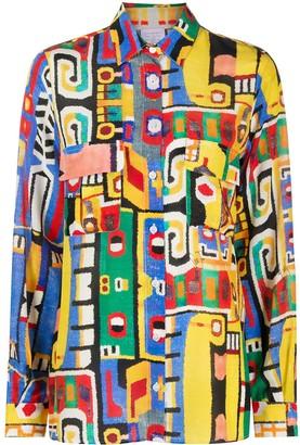 Stella Jean Abstract Pattern Shirt