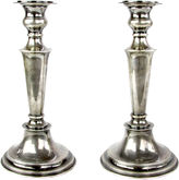 One Kings Lane Vintage English Sterling Candlesticks, Pair