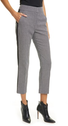 Veronica Beard Gemini Gingham Tuxedo Stripe Crop Pants