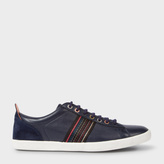 Paul Smith Men's Navy Leather And Suede 'Osmo' Trainers
