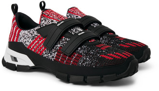 Prada Trail Rubber-Trimmed Mesh Sneakers